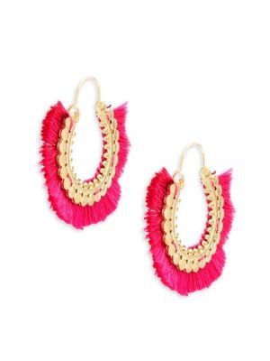 Panacea Fringe Hoop Earrings