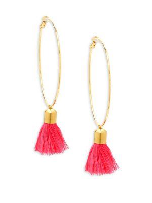 Panacea Hoop Tassel Earrings