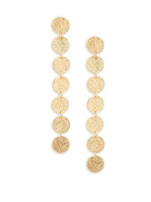 Panacea Disc Linear Drop Earrings
