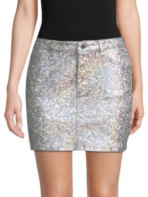 Dl1961 Brit Metallic Pencil Skirt
