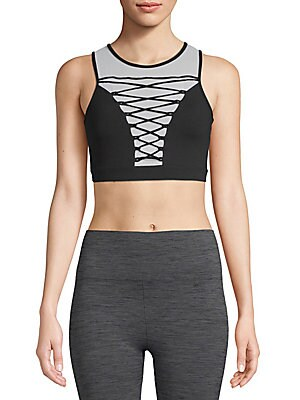 ELECTRIC YOGA Entrapped Sports Bra in Black