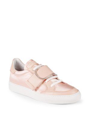 John Galliano Embellished Buckle Low-Top Sneakers