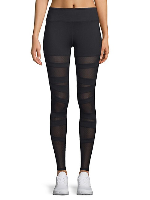 ELECTRIC YOGA | Mesh Dotted Leggings | Goxip