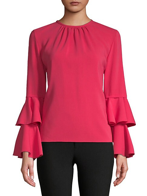 Tiered Bell-Sleeve Top