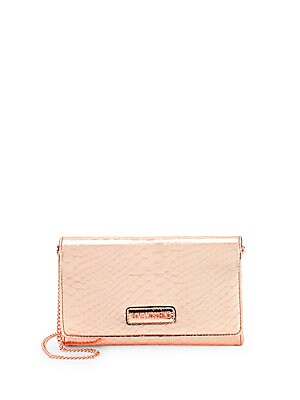 Textured Chain-Strap Crossbody Bag