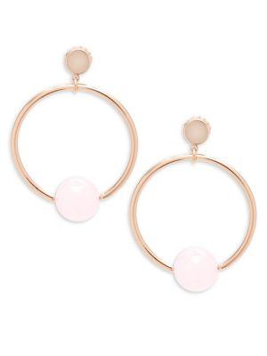 JARDIN Circle Drop Earrings in Rose