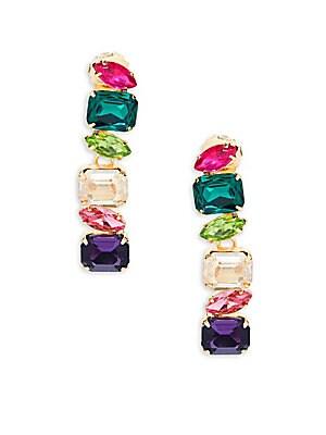 Linear Glass Drop Earrings