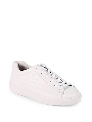 PANIC STUDDED LEATHER SNEAKERS