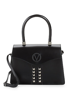 Crocodile Embossed Leather Top Handle Bag by Valentino By Mario Valentino
