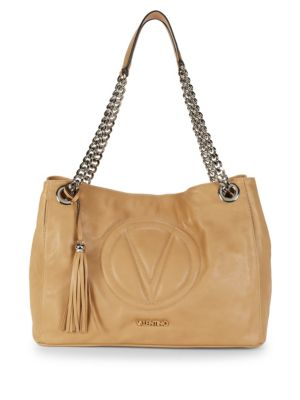 VALENTINO BY MARIO VALENTINO Versa Chain Leather Shoulder Bag