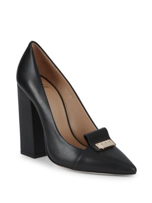 Zac Posen Grayson Block Heel Leather Pumps