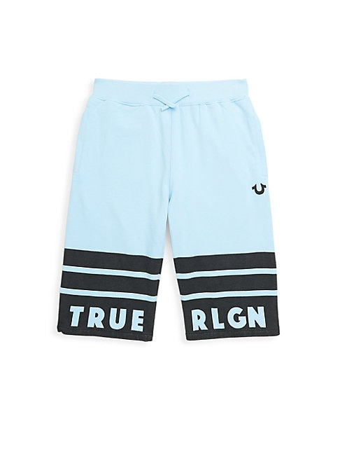 Boy's Striped Sweat Shorts