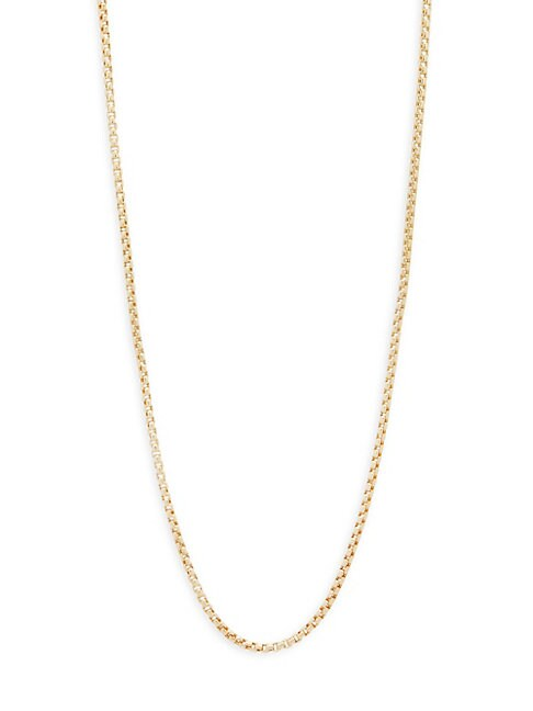 Box Chain 14K Gold Necklace/20