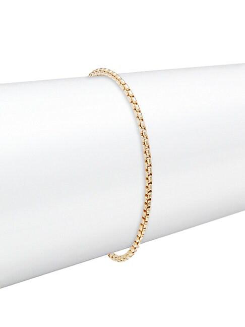 Box Chain 14K Gold Bracelet