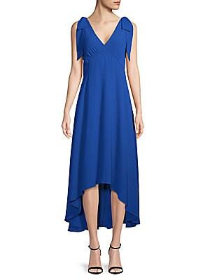 Sleeveless Hi-Lo Bow Dress