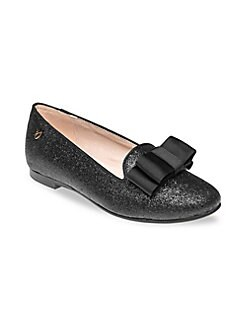 2e3f59e203c Girl s Leather Shimmering Ballerina Shoes BLACK. QUICK VIEW. Product image