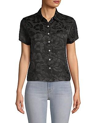 Honolulu Floral Silk Button-Down Shirt