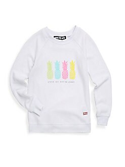 Peace Love World - Girl's Graphic Sweatshirt