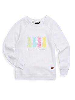 Peace Love World - Little Girl's Graphic Sweatshirt