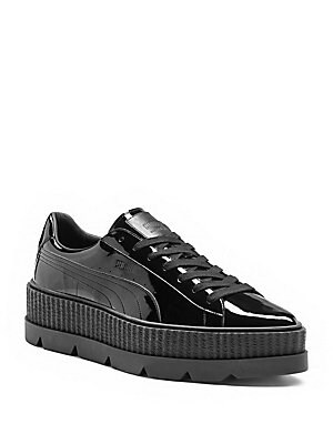 Pointy Patent Leather Creeper Sneakers