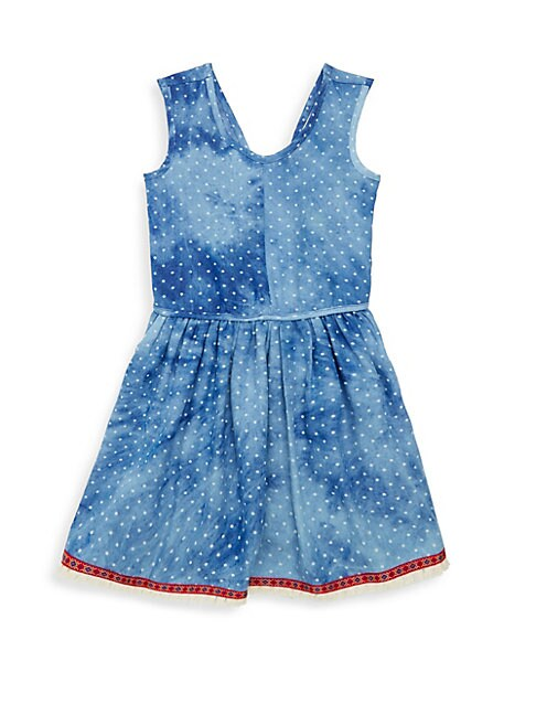Little Girl's & Girl's Tigerlilly Chambray Flare Dress