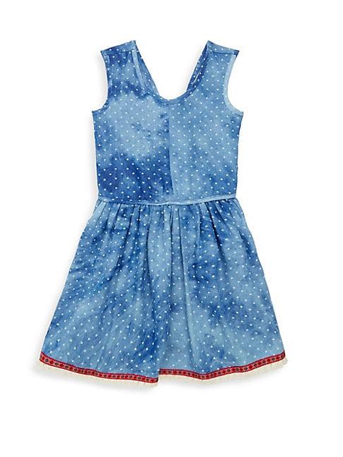Little Girl's & Girl's Tigerlilly Chambray Flare Dress