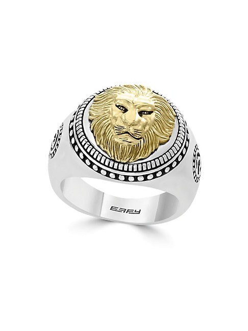 EFFY | Gento Lion Sterling Silver Band Ring | Goxip