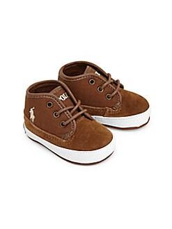 Ralph Lauren - Baby Boy's Leather & Cotton Logo Sneakers
