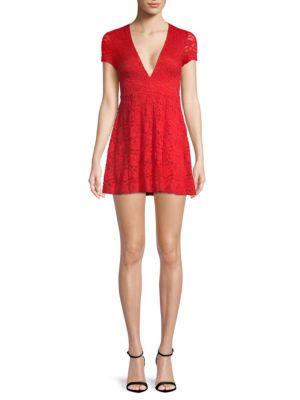 Show Me Your Mumu Ibiza Floral Lace Dress