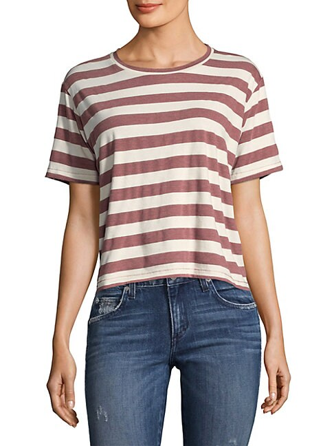 Amo STRIPED COTTON TEE