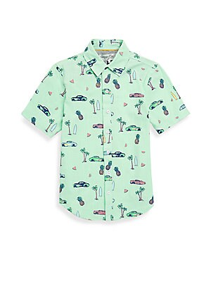 Little Boys Deluxe Beach Shirt