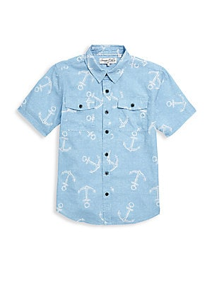 Boys Wallows Cotton Shirt