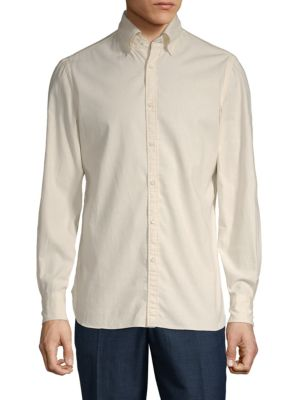 Eidos Solid Cotton Sport Shirt