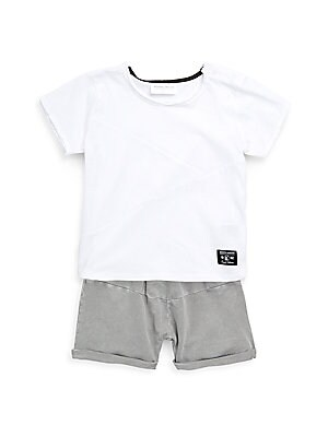 Baby Boys TwoPiece Cotton Tee and Shorts Set