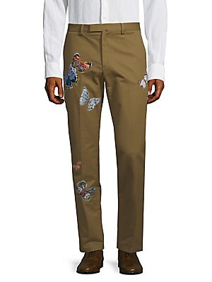 Butterfly Embroidered Pants