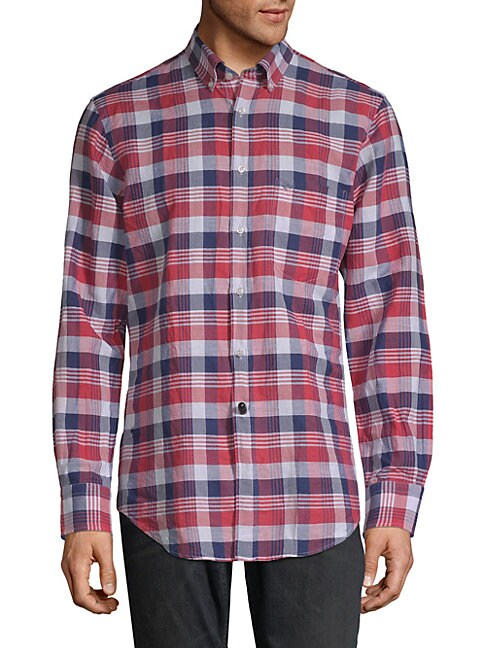 Linen Cotton Plaid Shirt