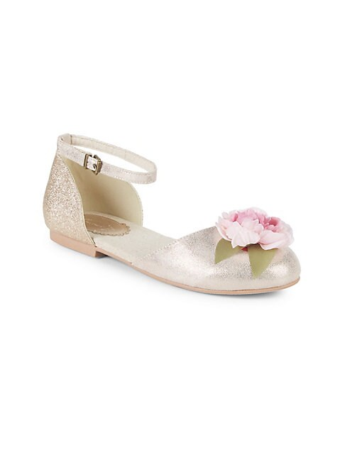 Baby Girl's, Little Girl's & Girl's Hailey Ankle-Strap Flats