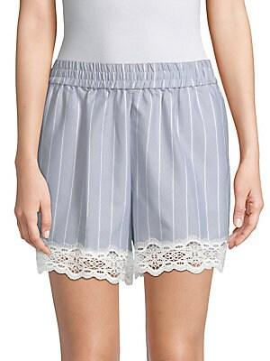 Striped Cotton Poplin Shorts