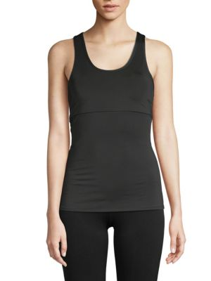 ELECTRIC YOGA Lace-Up Tank Top in Black