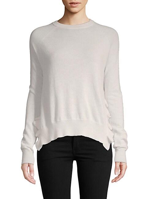 AUTUMN CASHMERE | Ruffle-Trimmed Cashmere Sweater | Goxip