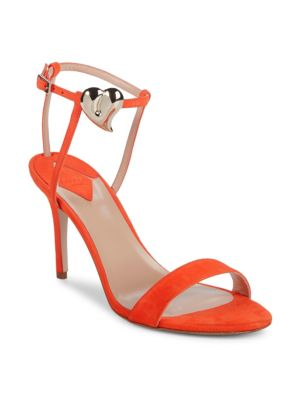 Aperlai Palma Heart Suede Stiletto Sandals