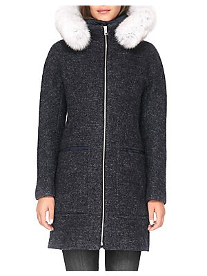FOX FUR-TRIM PUFFER COAT