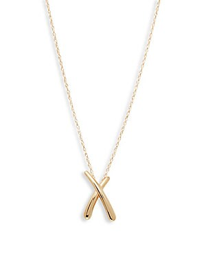 14 K Gold Half Moon Pendant Necklace by Saks Fifth Avenue