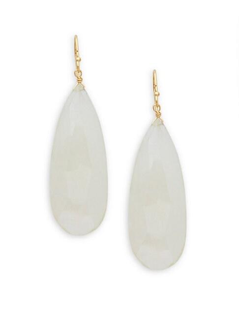 ALANNA BESS | White Mystic Topaz Drop Earrings | Goxip