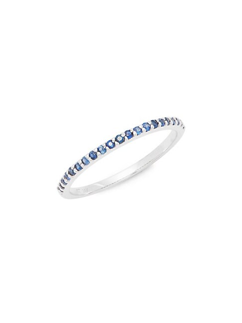 14K White Gold and Sapphire Stackable Ring