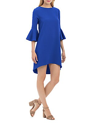 Bell-Sleeve Hi-Lo Dress