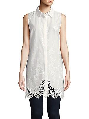 Sabina Sleeveless Embroidered Shirt