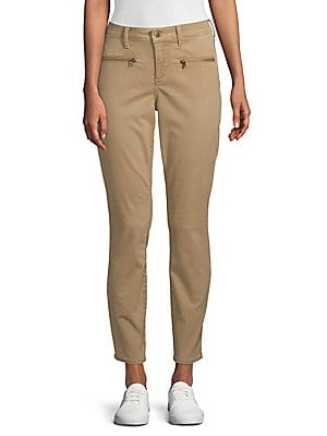 NOT YOUR DAUGHTER'S JEANS Classic Skinny Chino Pants in Sesame