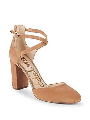 15bdd56ad93 Sam Edelman - Simmons Suede Ankle-Strap Sandals