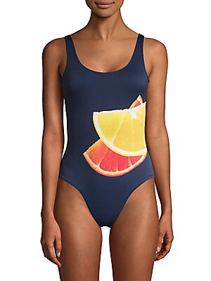 One-Piece Kelly Graphic Swimsuit